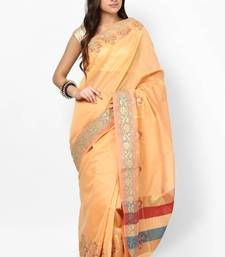 Buy Hand woven cotton Fancy Zari Banarasi Contrast Saree hand-woven-saree online