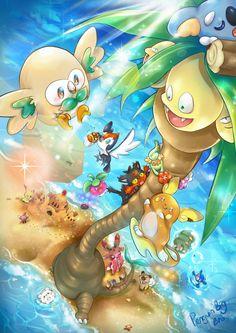 Pokemon Sun and Moon by PenguinBigBro on DeviantArt Pikachu, Pokemon Go, Fotos Do Pokemon, Pokemon Fan Art, Pokemon Backgrounds, Cool Pokemon Wallpapers, Cute Pokemon Wallpaper, Pokemon Pictures, Moon Art