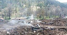 Çorum Alioğlu Köyünün yarısı yandı