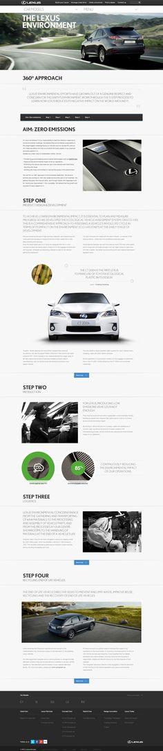 Lexus 'Creating Amazing' on Web Design Served