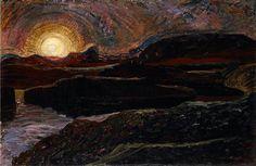 """ Summer Night at Thingvellir, 1931, Johannes Sveinsson Kjarval. Icelandic (1885 - 1972) """
