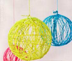 Cómo hacer bolas de navidad con globos