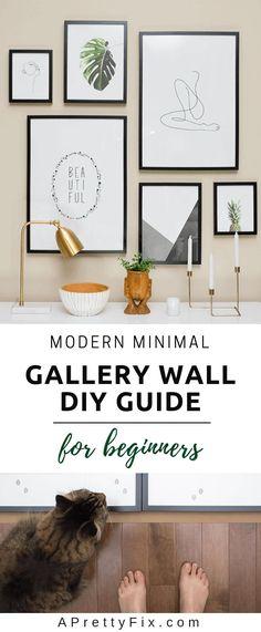 The Modern Minimalist Gallery Wall Guide for Beginners Modern Decoration modern wall decor Mur Diy, Cuadros Diy, Frame Layout, Mason Jar Diy, Jar Crafts, Diy Wall Art, Wall Of Art, Simple Wall Art, My New Room
