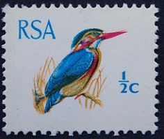 King-Fisher 1970 - SA African Animals, Afrikaans, Postage Stamps, Fisher, South Africa, Remote, Wildlife, Birds, King