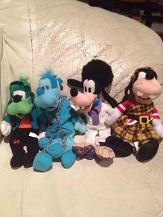 Lot of 4 Disney Goofy Scottish Goofenstein Ghost Disco Bean Bag Plush - http://hobbies-toys.goshoppins.com/beanbag-plush/lot-of-4-disney-goofy-scottish-goofenstein-ghost-disco-bean-bag-plush/