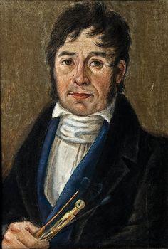 José Manzano y Jaramillo, Autorretrato, óleo sobre cartón, sin medidas, ca. 1840, Museo Luis Bello y Zetina, catalogación: Juan Carlos Cancino.