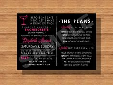 Before For She Says I Do Let's Have a Drink or Two #BacheloretteParty #Invitation by WeddingsByJamie