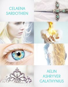 She is Celaena Sardothien, the assassin, the broken princess, the wounded warrior. She is Aelin Ashryver Galathynius, the fae, the queen, the warrior, the champion, the hero. She is Aelin Fireheart, the flame of Mala.