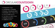 Circular Countdown is a jQuery plugin that comes with many powerful features, it's very easy to skin with any color or image.