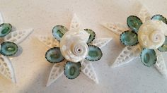 Beach decor seashell Christmas ornament. This beautiful nautical decor holiday ornament is hand crafted using aqua limpet shells, delphinula seashell and pearls on a capiz shell. A white organza ribbon hanger is securely attached to the back.  This pretty beach ornament makes a perfect addition to your Christmas tree, or keep a few on hand wrapped up for unexpected guests who pop in. Perfect also as a hostess gift or Secret Santa gift! Approximately 3.5 to 4.5 around.