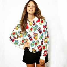 let's shop here : CUTE PRINT BLOUSE