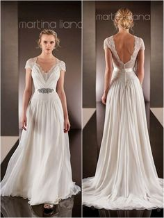 Vintage Wedding Dresses 2015 V Neckline Beaded Sequins A Line Lace Bridal Dress Short Sleeves Backless Chiffon Wedding Gowns Custom Made, $141.37 | DHgate.com