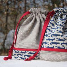 Drawstring Bag Pouch Tutorial