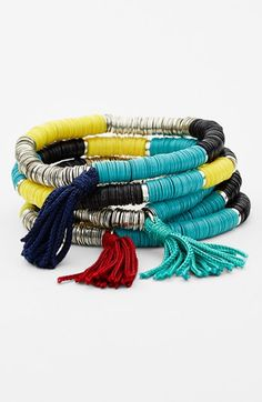 Spring Street Sequin Stretch Bracelet (Set of 5) available at #Nordstrom