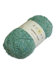 Summer Tweed is a beautiful, rustic, dry handle tweed. This silk cotton blended yarn has a wonderful texture.
