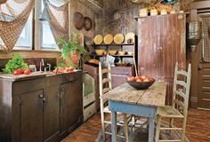 16 Best Ideas for Primitive Country Kitchen Decoration - fancydecors primitive kitchen primitive decorating primitive display primitive diy primitive living room Primitive Homes, Primitive Kitchen, Country Primitive, Primitive Furniture, Country Furniture, Prim Decor, Primitive Decor, Primitive Curtains, Primitive Christmas