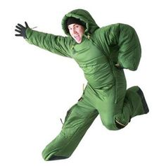 Selk'bag 3G - Wearable Sleeping Bag.  For those freezing nights spent in a football stadium?