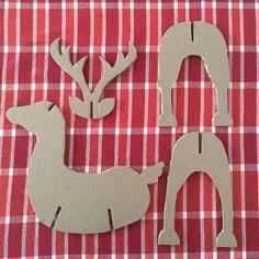 #modonavidad #cardboardbox #handmade #cartón #lovienpinterest #reindeer
