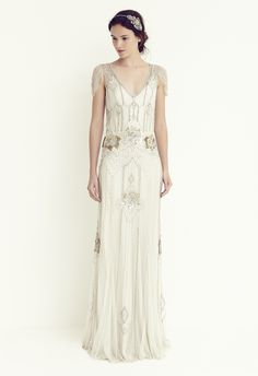 Jenny Packham's Eden in platinum - one of my absolute favourite wedding dresses