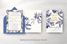 Gold & navy wedding suite