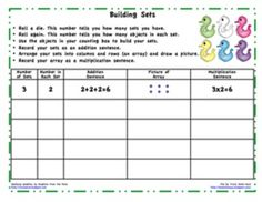 math worksheet : free resource arrays worksheet! students look at an array and  : Multiplication Arrays Worksheets Grade 3