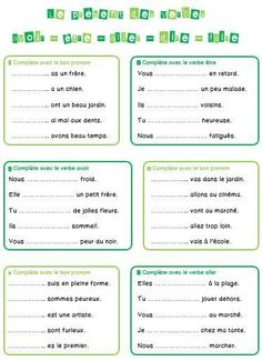 avoir etre faire aller - Google Search French Verbs, French Grammar, French Teaching Resources, Teaching French, French Language Lessons, French Lessons, French Worksheets, French For Beginners, Education And Literacy
