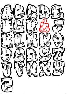 Graffiti Lettering Alphabet, Tattoo Fonts Alphabet, Tattoo Lettering Fonts, Graffiti Font, Doodle Lettering, Graffiti Styles, Types Of Lettering, Street Art Graffiti, Graffiti Artists