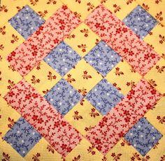 1880's sampler quilt: December 2011, Roman Cross