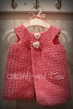 Heklet og strikket barnevest Knitting For Kids, Knits, Summer Dresses, Children, Baby, Tops, Women, Fashion, Toddlers