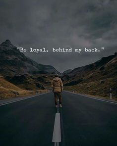 Be loyal behind my back.. via (https://ift.tt/2Lb0DmF)