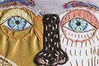 Máscara - edo morales Graphic Tank, Fiber Art, Textiles, Embroidery, Tank Tops, Women, Fashion, Visual Communication, Moda
