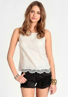 Whiteout Floral Tank 39.00 at threadsence.com