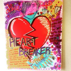 """Image of """"HeartBreaker Collection""""-16""""x 20"""" canvas(acrylic)"""