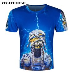 Heavy metal band 3D T-Shirt Men Funny T Shirts Psychedelic Print Tops Hip Hop Camisa Luxury Short Sleeve Fashion Tee ZOOTOP BEAR #Affiliate