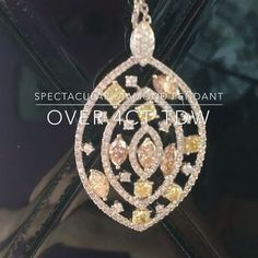 For the love of diamonds 😍 this spectacular pendant crafted of 18ct white Gold features an array of diamonds from G Coloured Si clarity to fancy yellows and champagnes! This is a must see in store right now at @goldriverjewellers .  .  .  .  #goldriverjewellers #diamonds #diamondpendant #jewellers #jewellery