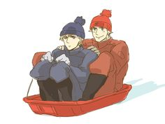Denmark and Norway go sledding