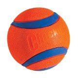 Chuckit! Ultra Ball, to avoid tennis ball mouth, I think.