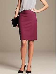 Sloan Pencil Skirt - Skirts. Love pencil skirts.  They are very flattering on me.  This berry color would be great for fall.
