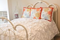 anthropologie inspired knotted bedding part 1 (making the knotted squares)