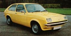 Sleek, compact new family car with the versatility conferred by a hatchback door and fold-down rear backrest. The Viva engine, tuned for economy, is helped by the smooth shape, with front air dam. Elaborate treatments combat corrosion and the glass fibre headlamp reflectors are new. Heated rear window, reclining seats, reversing lamps are standard. Chevette L also has opening quarter windows, carpeted load platform, lighter and clock. #70scars