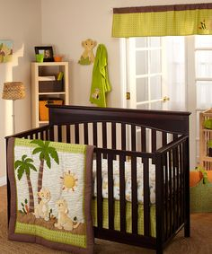 Love this Lion King Deluxe Four-Piece Crib Bedding Set by Disney Baby on #zulily! #zulilyfinds