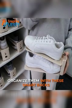 organize Shoe Rack Set of 8 - With our convenient organization system, each shoe occupies its own designated space, so you never have to dig through the pile for a missing shoe! Master Closet, Closet Bedroom, Diy Bedroom, Shoe Organizer, Closet Organization, Organization Ideas, Home Gadgets, Closet Designs, Home Hacks