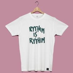 Rythim Mint White T Shirt Transmat x Millionhands. On SALE noow! £19.00