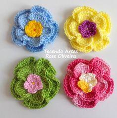 Tecendo Artes em Crochet: Flores