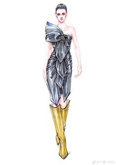 Fashion Drawing Dresses, Fashion Illustration Dresses, Fashion Dresses, Fashion Design Drawings, Fashion Sketches, Pose, Dress Sketches, Fashion Sketchbook, Elements Of Design