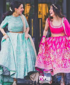 The colour inspiration for wedding Indian Wedding Photos, Indian Wedding Photography, Indian Bridal, Sister Wedding Pictures, Bridesmaid Pictures, Ethnic Outfits, Indian Outfits, Lehnga Dress, Lehenga