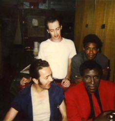 Steve Buscemi, Cinqué Lee, Joe Strummer and Screamin' Jay Hawkins on the set of Mystery Train. Celebrity Look, Celebrity Photos, Celebrity News, Celebrity Couples, Steve Buscemi, Joe Strummer, Chuck Mangione, Mystery Train, Mick Jones