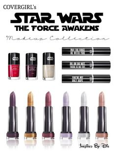 CoverGirl Launches Star Wars Makeup Collection for The Force Awakens (Christmas Makeup Collection) Star Citizen, Makeup Tips, Beauty Makeup, Makeup Ideas, Fancy Makeup, Nerdy Makeup, Cover Girl Makeup, Foundation, Christmas Makeup