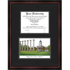 University of Missouri 11 inch x 8.5 inch Diplomate Diploma Frame