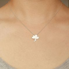 Lightning Cloud Necklace Silver now featured on Fab.